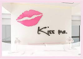Amazon Com Wall Stickers Acrylic Kiss Me Wall Decal Self Adhesive Art Mural Removable Big Lips Wall Decal Home Bedroom Living Room Tv Setting Romance Home Decor Size 9022cm Home Kitchen