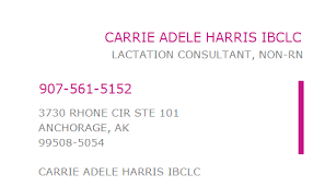 1356978712 NPI Number | CARRIE ADELE HARRIS IBCLC | ANCHORAGE, AK ...