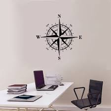 Compass Wall Decal Vinyl Sticker Nautical Wall Art Deco Oriented North South West Nursery Kids Room Wall Sticker U842 Buy At The Price Of 5 31 In Aliexpress Com Imall Com