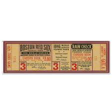 Mustang Products Boston Red Sox 1946 Game 3 World Series Ticket Wall Decal Wayfair