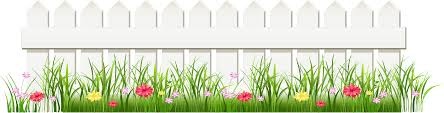 Download Hd Transparent White Fence With Grass Png Clipart Transparent Png Image Nicepng Com