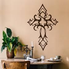 Religious Wall Decal Tribal Cross Christian Art Vinyl Decoration