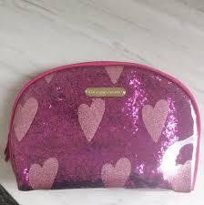 secret glitter pink makeup bag pouch
