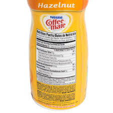 hazelnut coffee creamer shaker