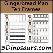 gingerbread man ten frame activities