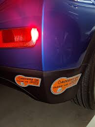 2020 Bolt Rear Bumper Clean Air Vehicle Sticker Placement You Can Put All Three Stickers On The Black Plastic To Save Your Paint Not So Much For The Front Bumper Boltev