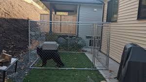 How To Build A Chain Link Dog Kennel Run Youtube