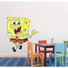 Spongebob Squarepants Smiling Happy Wall Graphic Decal Sticker Sticker Mural Baby Kids Room Bedroom Nursery Kindergarten House Home Design Wall Art Decor Removable Peel And Stick Mural 30x15 Inch Walmart Com