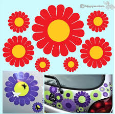 Gerbera Daisy Flower Car Decal Made From Durable Colourfast Vinyl
