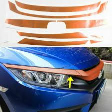 For Honda Civic 16 Refit Bumper Grille Orange Decal Sticker Decor Protector Coexist Bumper Sticker Car Bumper Stickers Trunk Trim Aliexpress