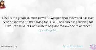 william marrion branham quote about greatest love weapon