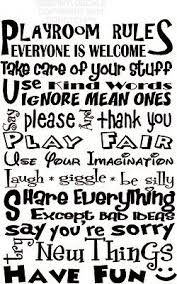 Playroom Rules Vinyl Wall Decal Home Decor Kids Room Large 18 X27 16 99 Picclick