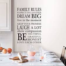 Wpk2491 Family Rules Wall Decal By Wallpops