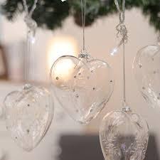 6pcs snowflake ornament clear glass