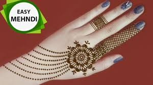 simple gol tikka mehndi design 2020