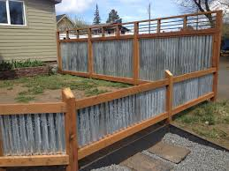 Corrugated Metal And Rebar Metal Fence Panels Diy Privacy Fence Corrugated Metal Fence