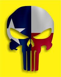 Punisher Texas Tx Flag Vinyl Decal Sticker Texas Die Cuts