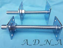 Adjustable Post Support Shoe Heavy Duty Galvanised Post Fitting Metal Bracket Fence Post Bases Supports Spikes