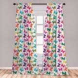 Girls Butterfly Curtains Wayfair