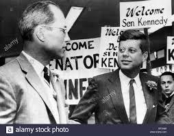 Ex-football star Byron White, Senator John F. Kennedy, Denver ...