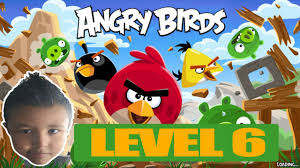 ANGRY BIRDS 1  RED   CHUCK   LEVEL 6