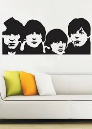Beatles Wall Decal Vinyl Decor Art Sticker By Uberdecals On Etsy 54 99 Beatles Wall Art Beatles Wall Beatles Artwork