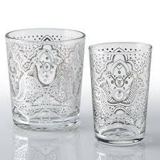 silver el kef moroccan tea glasses