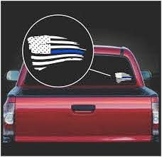 Blue Lives Matter Sticker Weathered American Flag Decal Custom Sticker Shop