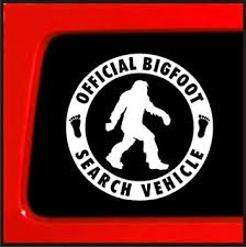 Amazon Com Sticker Connection Official Bigfoot Search Vehicle Bumper Sticker Decal For Car Truck Window Laptop 4 White Automotive