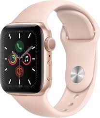 Apple Watch Series 5 (GPS) 40mm Gold Aluminum Case with Pink Sand Sport  Band Gold Aluminum MWV72LL/A - Best Buy