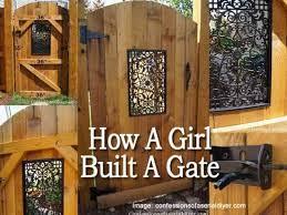 girl built a beautiful diy garden gate