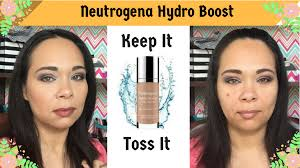 neutrogena hydro boost demo and review