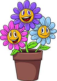 Amazon Com Bright Pink Blue Purple Daisies Flower Pot Cartoon Vinyl Decal Sticker 12 Tall Automotive