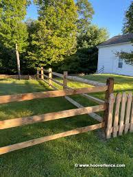 West Virginia Lap Rail Posts Locust Hoover Fence Co