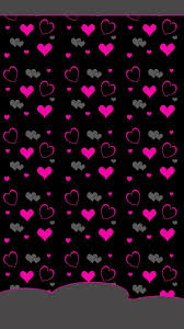 pink and grey hearts wallpaper with