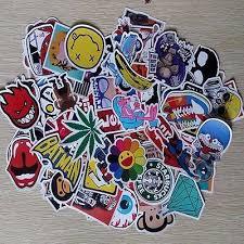 100pcs Sticker Bomb Decal Vinyl Roll For Car Skate Skateboard Laptop Luggage W8