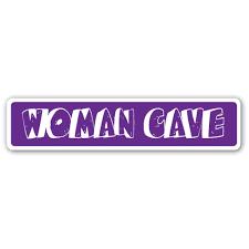 Woman Cave Street 3 Pack Of Vinyl Decal Stickers For Laptop Car Walmart Com Walmart Com