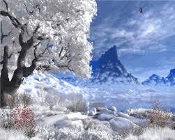 free animated snow scene wallpaper on