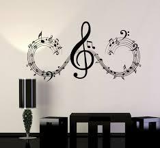 Bibitime Classroom Vinyl Decal Music Karaoke Microphone Wall Art Musical Notes X For Sale Online Ebay