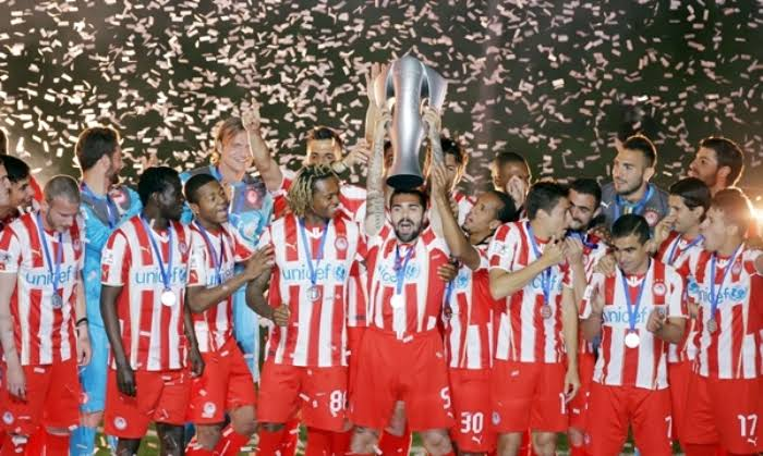 Image result for Olympiacos trophy""