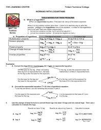 properties of logarithms psu