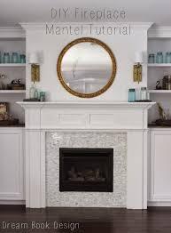 diy fireplace mantel tutorial diy