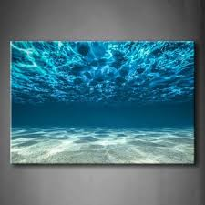 ocean bottom view surface wall art