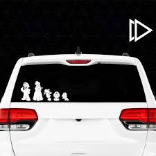 Super Mario Stick Figure Family Car Window Vinyl Decals Etsy