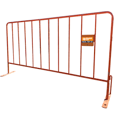 Steel Crowd Control Barriers For Hire Orange Hire