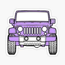Purple Jeep Sticker By Leedleleigh Redbubble