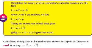 quadratic equations mathematics gcse