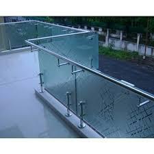 ss balcony glass handrail designs