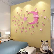3d Moon And Star Wall Sticker Crystal Living Room Ceiling Decor Wall Stickers Kids Room Decor Stickers For Wall Decor Stickers For Wall Decoration From Jaffaga003 11 04 Dhgate Com
