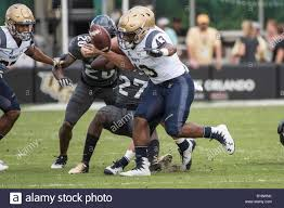 Orlando, FL, USA. 10th Nov, 2018. Navy Midshipmen fullback Nelson Smith  (43) fumbles the ball during